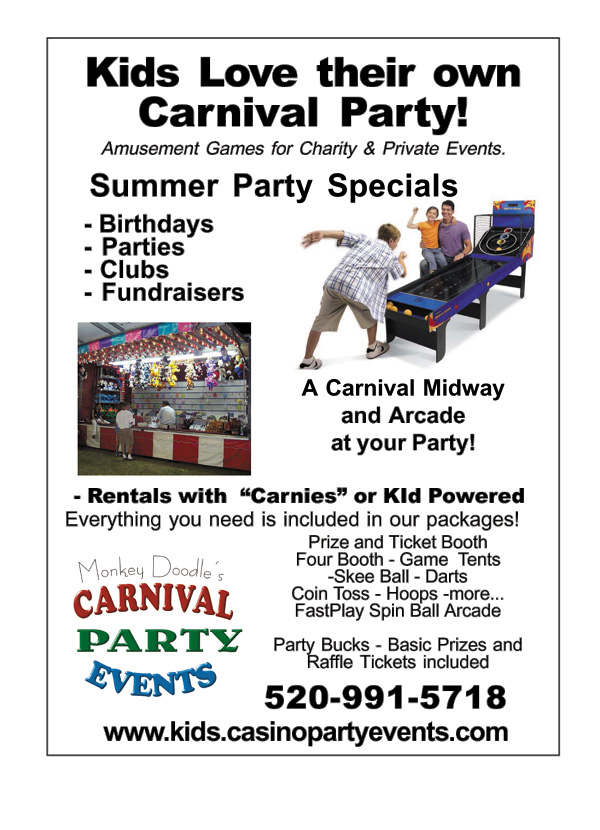 Kids Love their own Arizona Carnival Party!